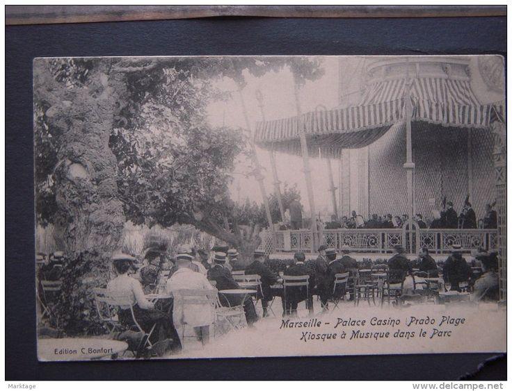 MARSEILLE-Palace Casino Prado Plage Kiosqe à Musique dans le Parc-unused-à utiliser .. France,Algerie et Tunisie. - Delcampe.it