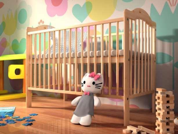 Sosnowe łóżeczko dziecięce ALEK (łóżeczko z funkcją tapczanika) dostępne od 229 zł mamaania.com.pl