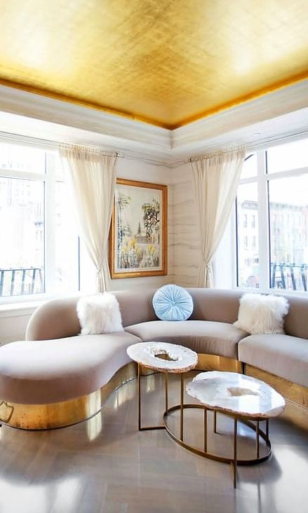 fun gold living room decor. Best Curved Sofa Choices will Beautify Your Living Room  Dlingoo 150 best consider the ceiling images on Pinterest Painted