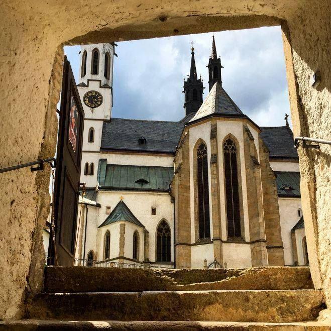 klooster van Vyšší Brod. Dit klooster is opgericht in 1259, maar het einde van de veertiende eeuw klaar. Een leuk uitstapje vanuit Český Krumlov