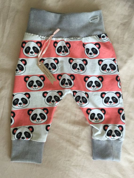 Baby Pants Pink Panda / Baby gift /baby leggings / by MaHEROsydney