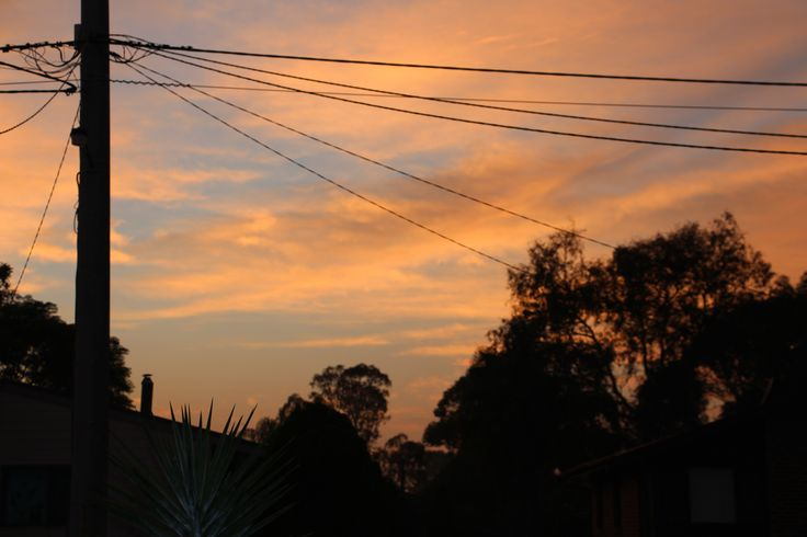 L1M1AP2: Sunrise - ISO100, 1/100, F5.0, Handheld, Auto. Taken from front of house at 6:11am. Testing out new camera Canon EOS 700D EFS 18-135MM.