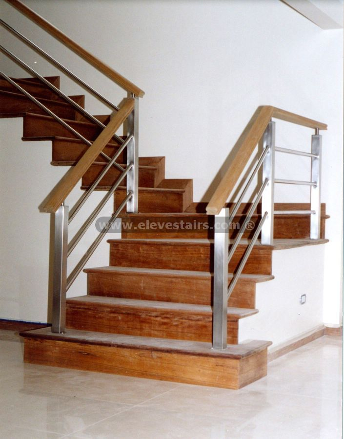 Metal And Wood Railings Contemporary Stainless Steel