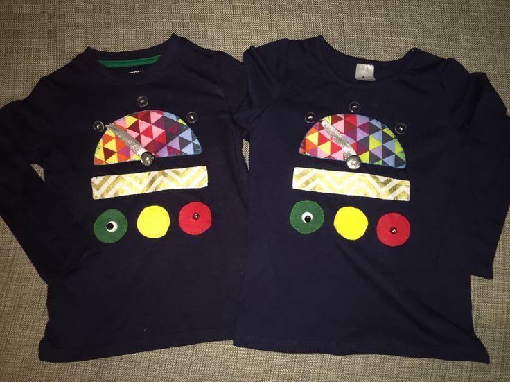 Robot t-shirts, appliqué