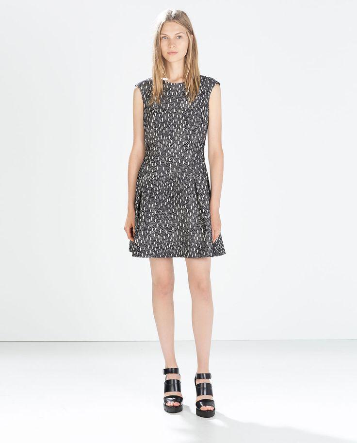 Image 1 of SHORT SLEEVE JACQUARD DRESS from Zara