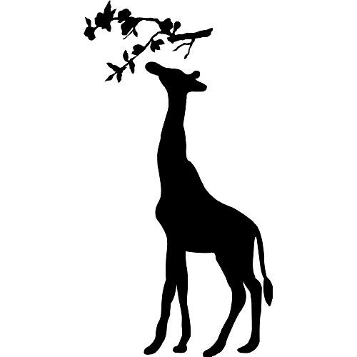 Giraffe Silhouette With Branch Wall Saying Vinyl Lettering Art Decal Quote  Sticker Home Decal