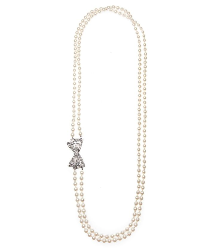 Alannah Hill - Surrender Your Love Necklace- The Surrender Your Love Necklace is a beaded necklace with bow detail to the side.