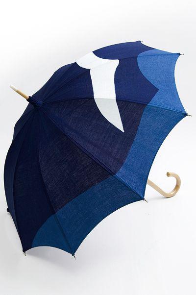 くるり : かもめが飛ぶ藍染の日傘