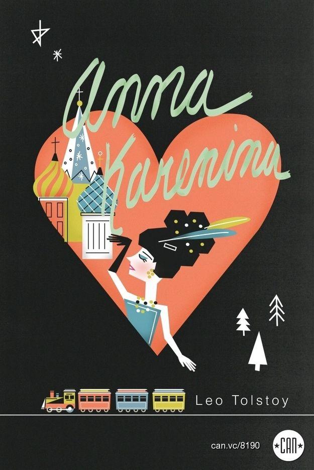 Anna Karenina Book Cover Art : Beautifully redesigned classic book covers artworks