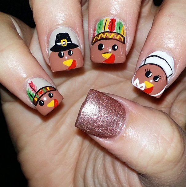 Thanksgiving Nail Art Tutorials: 298 Best Images About Fall / Thanksgiving Nails On