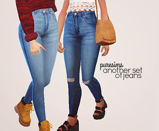 Pure Sims Another Set Of Jeans Sims 4 Downloads Cool