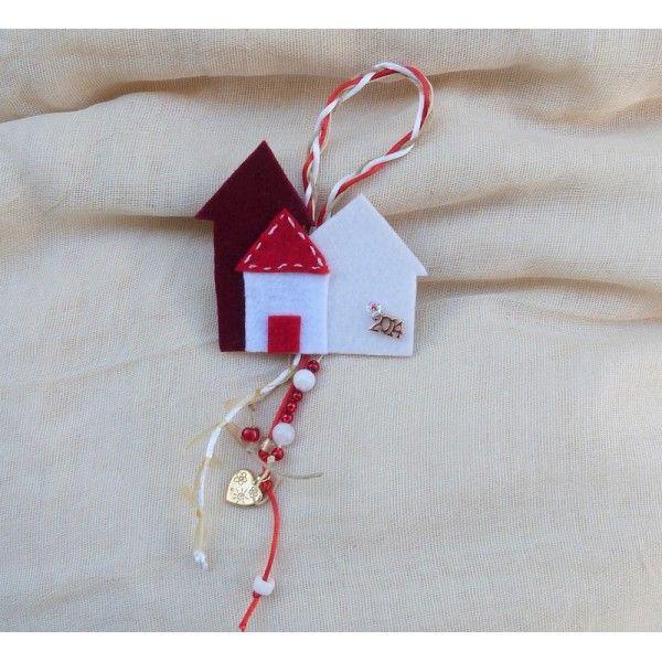 Handmade charm 'LITTLE TOWN' , for good luck.