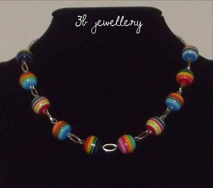 #simple #necklace #rainbow #3bjewellery #wirewrapping #GettingBetter