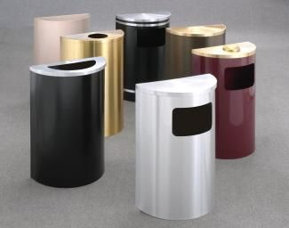 Glaro 14 Gallon Half Round Trash or Recycling Can Hinged Lid 28 best Decorative Cans images on Pinterest