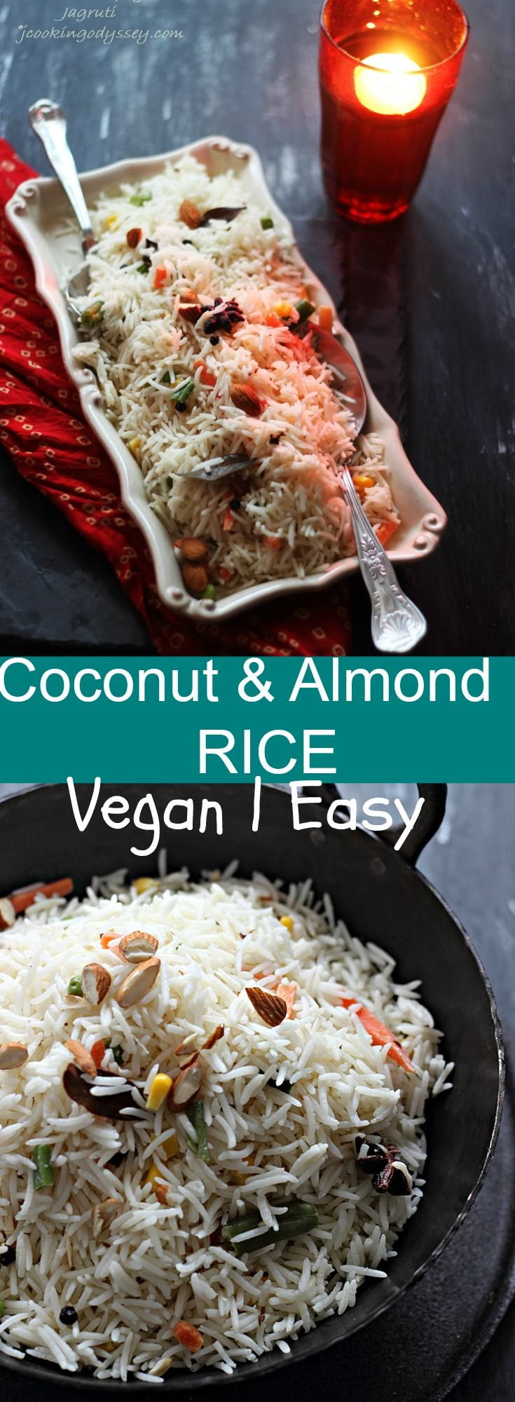 Coconut and almond Rice