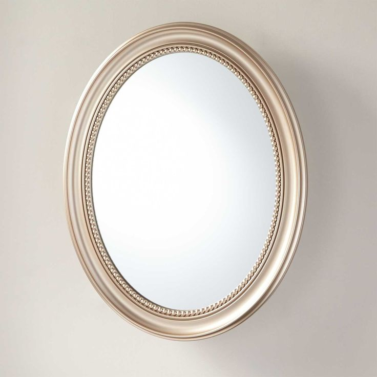 Favaloro Surface Mount Oval Medicine Cabinet with Mirror