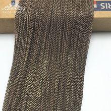 DIY медные цепи Коричневые обеих сторон мельница супертонкого цепи аксессуары для ювелирных изделий филигранные, ювелирные изделия(China (Mainland))