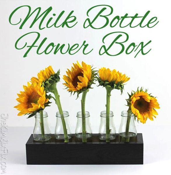 How to build a wooden flower box centerpiece to hold frappucino milk bottles. Perfect for any holiday