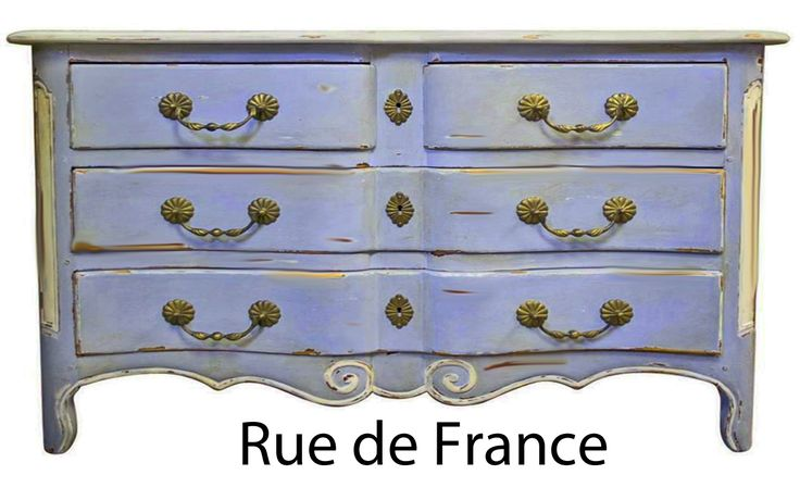Antique French painted finish chest of drawers