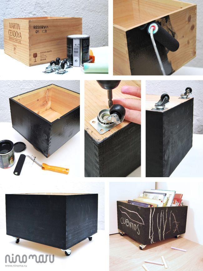 DIY Tutorial Story Box – Holz & Tafel von Ninomaru   – Cajas