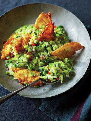 【ELLE a table】ブロッコリのタブレ、鯛のチップス添えレシピ|エル・オンライン