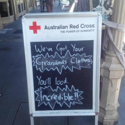 Rundle Street Red Cross' homage to Mackelmore and Ryan Lewis' Thrift Shop song. Popping tags!!