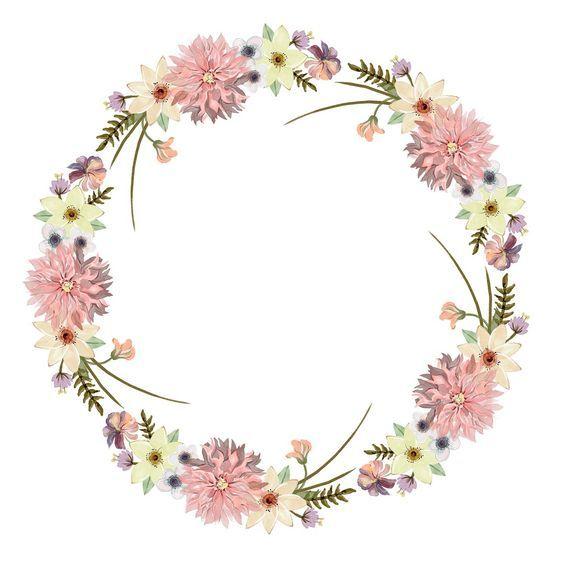 Flower crown circle PNG Image.