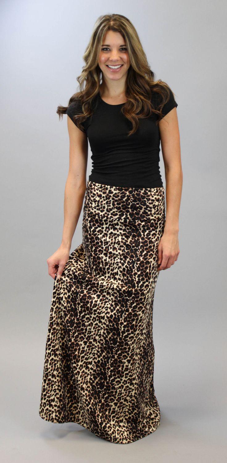 Leopard Maxi Skirt   A Cut Above Boutique, Inc. #shopacutabove #leopard #maxi #skirt