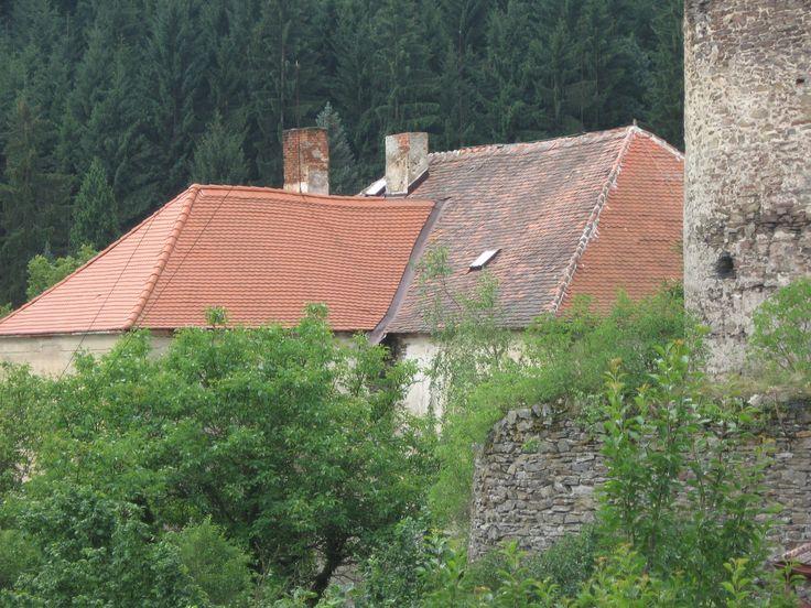 Pirkštejn in Rataje nad Sázavou - buildings of last castle, from 18.century rectory