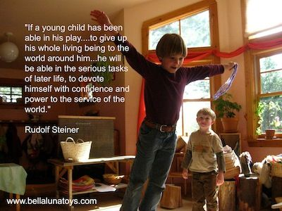 The importance of child's play according to Rudolf Steiner, founder of Waldorf education.