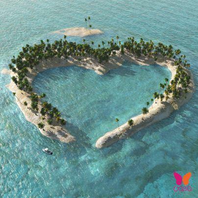 ¡Una isla sólo para #románticos!