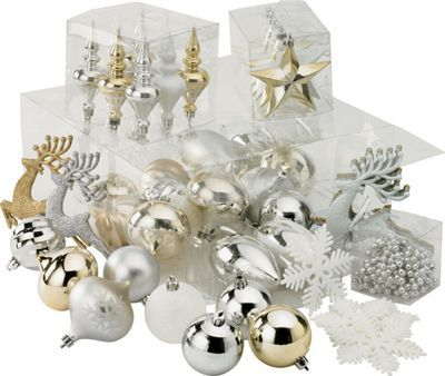 Shatterproof Christmas tree decorations found at Homebase ...