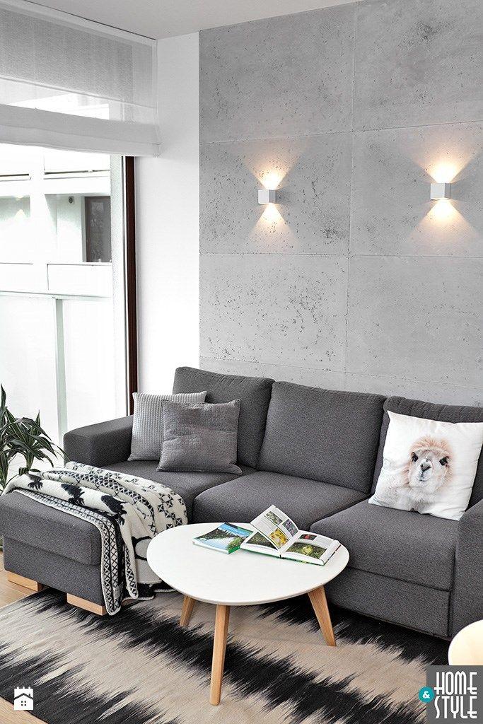 REALIZACJA mieszkania z czarnym jeleniem - Salon, styl nowoczesny - zdjęcie od HOME & STYLE