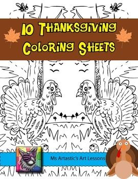 10 hand drawn, Thanksgiving coloring sheets suitable for all students. These zen coloring sheets are very detailed, have a fun vibe, and are designed to meet current student interests making them extremely suitable to have in your class. Let your students take ownership of them by letting them color these detailed illustrations!These are MOSTLY TURKEY coloring sheets so they're good for lots of different types of Thanksgivings (example: Canada and USA)These are great for time savers, to use…