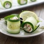 Cucumber Feta Rolls .. great appetizer too  I've never had or made Cucumber Rolls before making this recipe, but I loved the flavors of feta with kalamata olives and sundried tomatoes inside refreshing cucumbers. The filling is super quick to whip up, and could even be used as a dip to go with vegetables (think sliced cucumber rounds and bell pepper strips) and toasted pita chips. Yum!