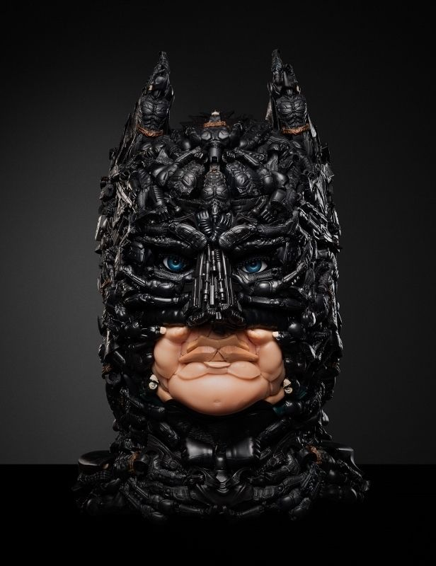 And The Dark Knight. |   Stunning Sculptures Made From Recycled Toys