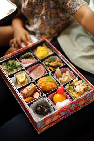 a box lunch sold at a railway station in Japan