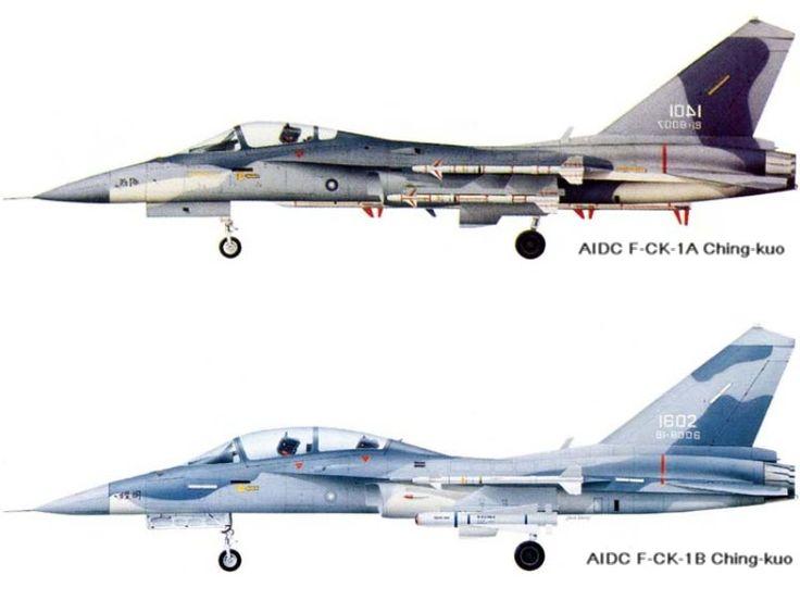 AVIÕES MILITARES: AIDC F-CK-1 Ching-kuo