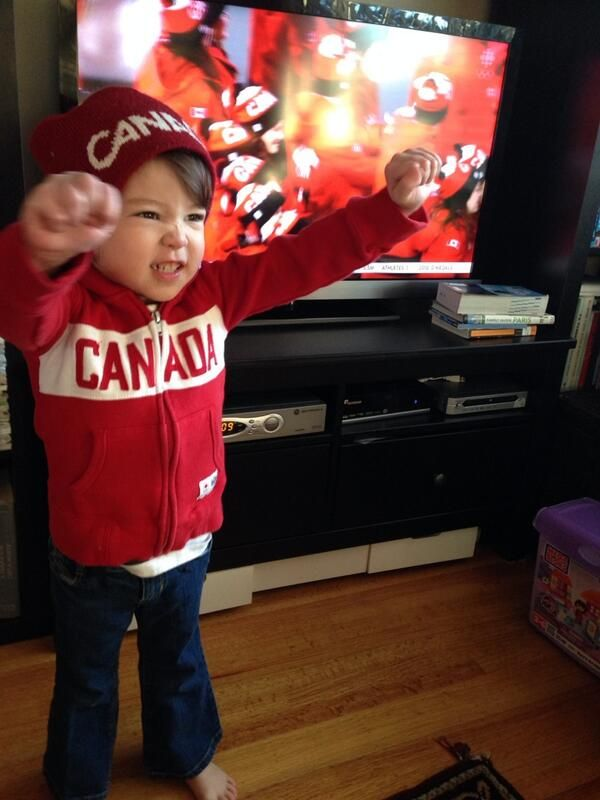 How cute is this little one!? #TeamCanada sure does have a lot of support back home!