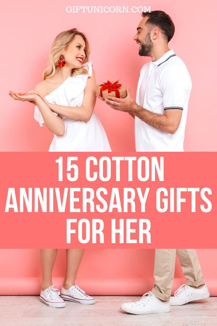 15 unique 2nd year cotton anniversary gifts for her