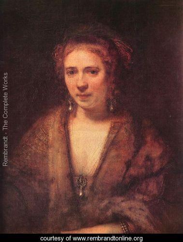 Portrait of Hendrickje Stoffels - Rembrandt Van Rijn - www.rembrandtonline.org