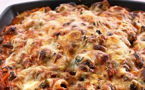 Pastaret med hytteost og spinat Hytteost er et godt supplement til kød i mange retter og så er det magert og med højt proteinindhold.