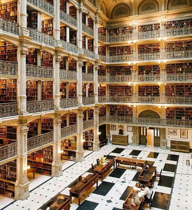 Bibliotecă în Baltimore, S.U.A.