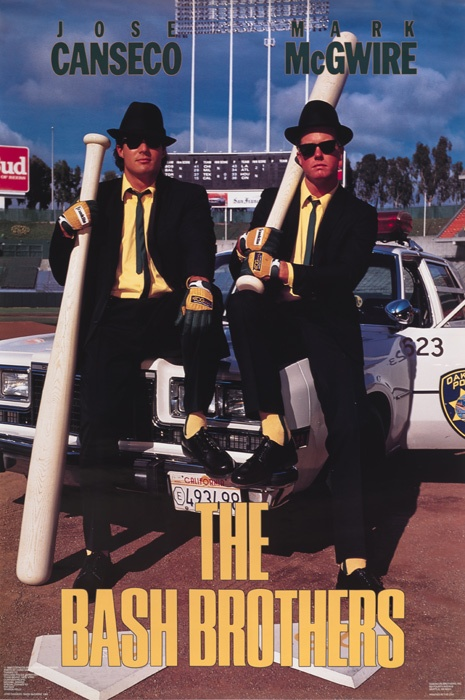 My hubby was the art director for these shoots back in the day. This poster: Canseco & McGwire - The Bash Brothers - Costacos Brothers Poster