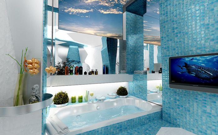 Best 25 eclairage salle de bain ideas on pinterest - Salle de bain marine ...