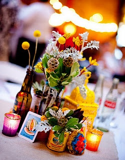 mexican fiesta centerpiece.... love the bright colors