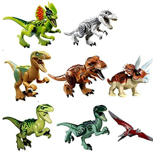 8pcs Puzzles Figure Dinosaurs Toy Building Blocks Educational Toy for Kids