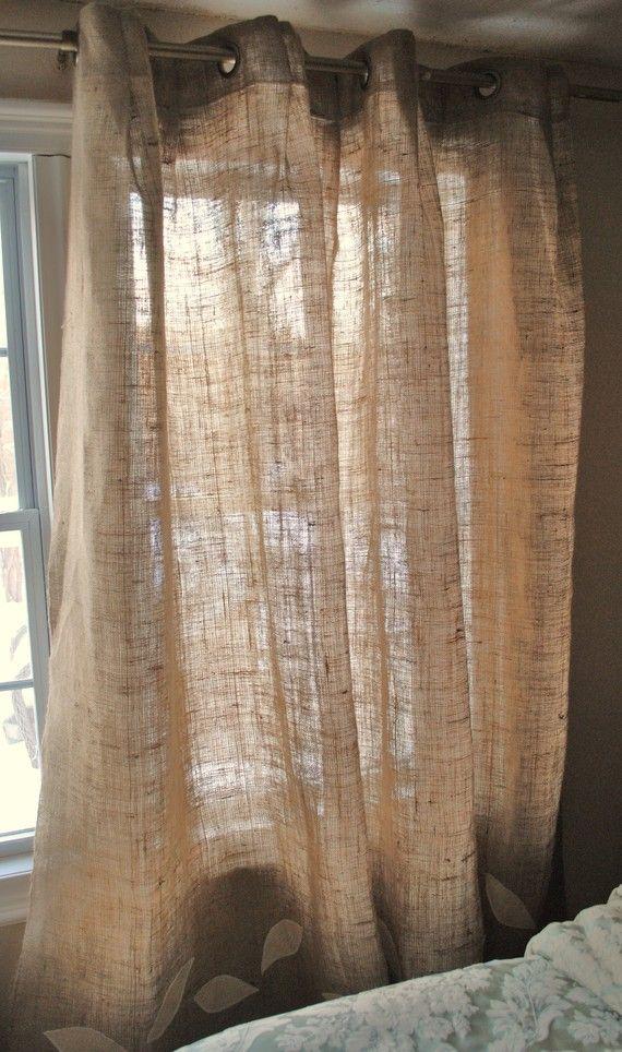 1000 ideas about burlap curtains on pinterest rustic - Cocinas estilo shabby chic ...