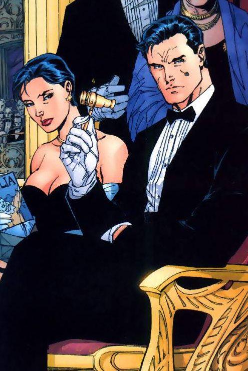 Selina Kyle and Bruce Wayne by Jim Lee