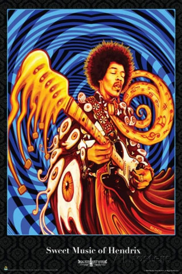 Jimi Hendrix music hippie rock and roll musicians jimi